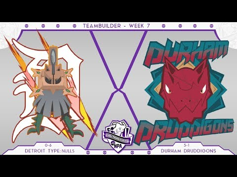 Detroit Type: Nulls Teambuilder NPA S4 Week 7 VS Durham Druddigons! • Pokemon Ultra Sun and Moon