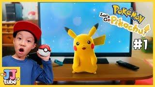 티비에서 튀어 나온 피카츄가 내친구?! 포켓몬스터 레츠고 피카츄 #1 닌텐도 스위치 Pokemon Let's Go! Pikachu Eevee [제이제이 튜브-JJ tube]