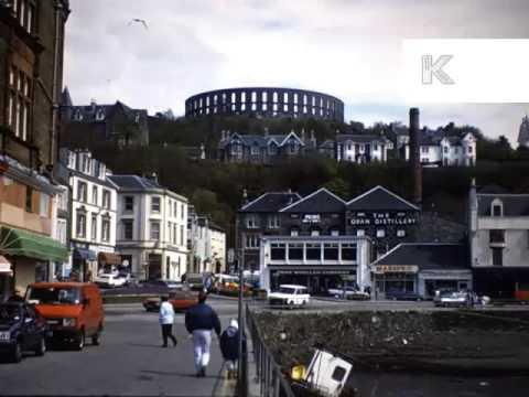 UK 1980s Scotland Coastal Town