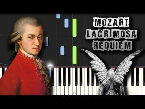 Mozart - Lacrimosa (Requiem) - [Piano Tutorial Synthesia] (Download MIDI)