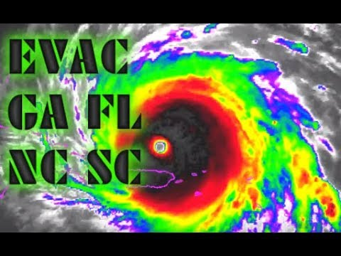Hurricane Irma Latest Update Worst Scenario Cat 6 Radioactive FL, GA, SC, NC 9/7