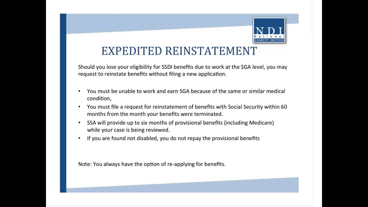 FINANCIAL WELLNESS WEBINAR: Social Security Disability Insurance -- The  Impact of Work on Benefits