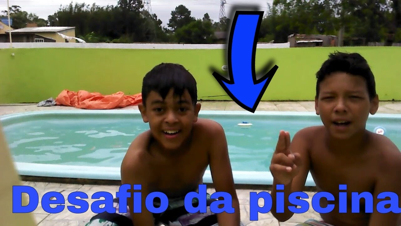 desafio da piscina in dito youtube On desafio da piscina youtube
