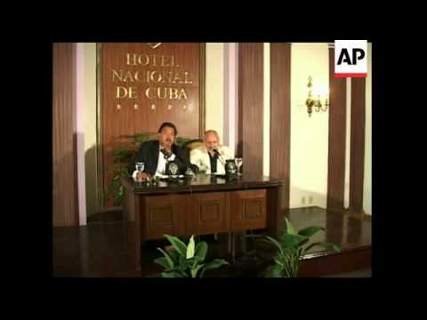 Governor of New Mexico visits Havana, news conference