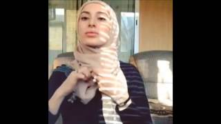 cara memakai hijab paris segi empat wanita muslim eropa cantik sekali
