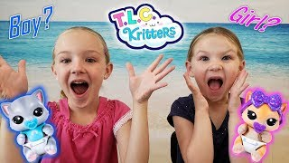Gender Reveal Toys! Opening TLC Kritters! Boy or Girl Babies?