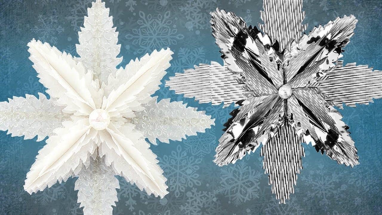 Ideen mit Herz  Eiskristall aus gestanzten Tannenzapfen
