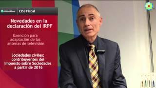 Novedades Declaración IRPF 2015 (1ª parte) | CISS Fiscal