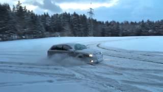 audi a3 3 2 v6 quattro snow drifting