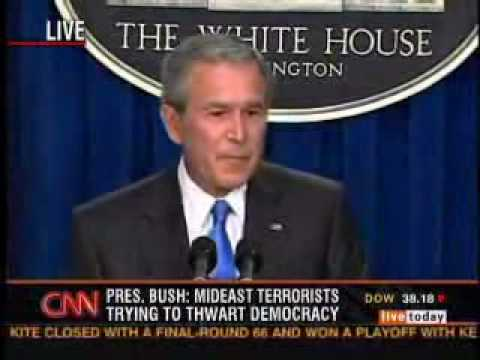 Bush says Iraq had no WMDs
