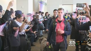 Team USA Olympic Athletes Depart For Pyeongchang From SFO