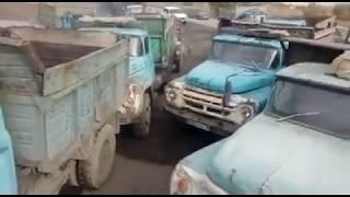 Дефицит угля в Казахстане. Очередь давка машин за углем