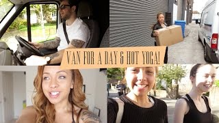 In a Van for a day & Hot Yoga!