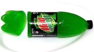 Mountain Dew: How to make jelly gummy Mt Dew bottle jello soda shape easy step by step guide DIY