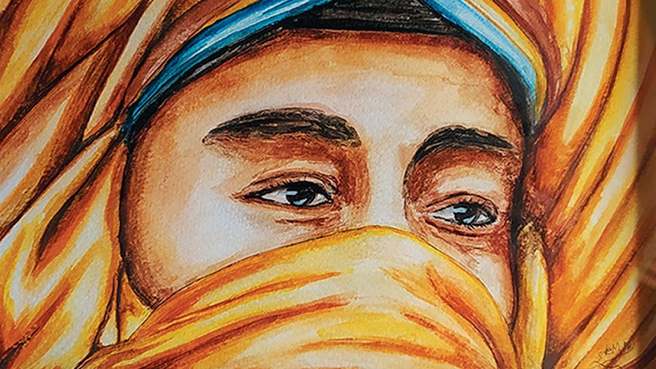 video Desert Man | Watercolor