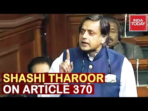 'Vajpayee's Kashmir Policy Is Betrayed': Shashi Tharoor Speech On Article 370 In Lok Sabha