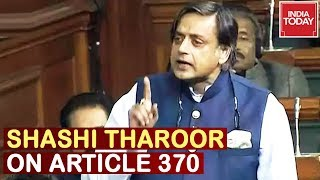 & 39 Vajpayee& 39 s Kashmir Policy Is Betrayed& 39 Shashi Tharoor Speech On Article 370 In Lok Sabha