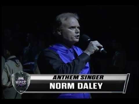 12/7/2012 Sacramento Kings Game National Anthem - Norm Daley