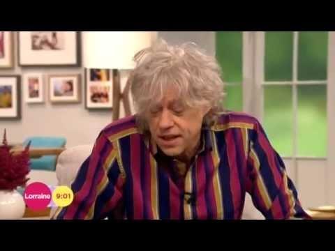 Bob Geldof - first interview since Peaches death - Lorraine 4th July 2014