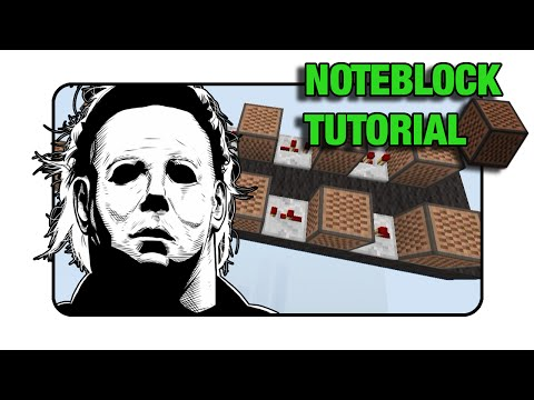 """Michael Myers """"Halloween"""" - Note Block """"Tutorial"""" (Minecraft Xbox 360/One/Ps3/Ps4)"""