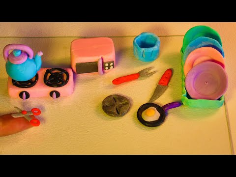 Amazing technique make miniature kitchen set of polymer clay #3| Easy to do