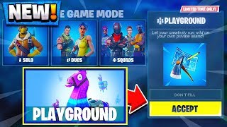 *NEW* FORTNITE PLAYGROUND LTM GAMEPLAY! - Fortnite New Update
