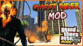 GTA 5 ITA PC MODS - GHOST RIDER MOD + VOLARE IN MOTO / GTA 5 ITA MOD MENU' | ALEX ZI
