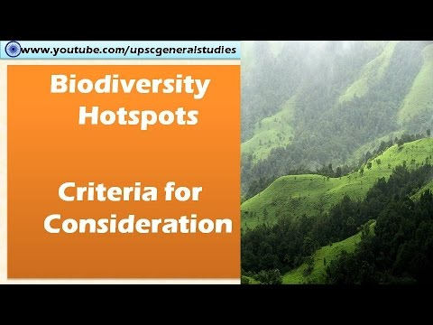 Biodiveristy hotspot: Criteria: List of Biodiversity hotspot: Ecology and environment