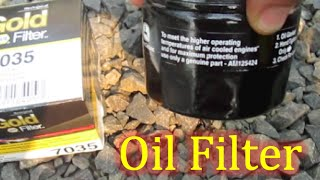 Which John Deere Oil Filter for oil change Riding Lawn Mower Rider