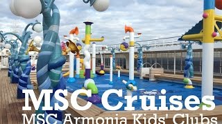 My video tour and reviews of the MSC Cruises Kids Clubs and facilit...