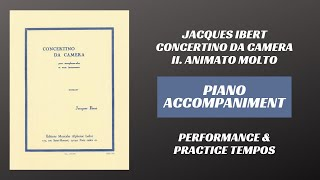 Jacques Ibert – Concertino da Camera, mvt. II Animato molto (Piano Accompaniment)