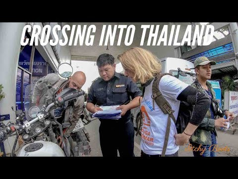 CROSSING INTO THAILAND - Royal Enfield Himalayan (2018) - Border crossing by motorbike - [ROUND 21]