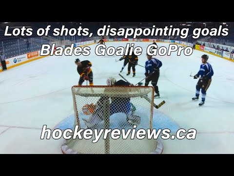 Lots Of Shots, Disappointing Goals. Blades Beer League Hockey Goalie GoPro