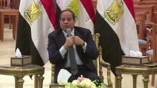 المتحدث العسكرى ينشر فيديو لقاء الرئيس بقادة القوات المسلحة