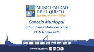 Concejo Municipal extraordinario autoconvocado 21 de febrero 2019