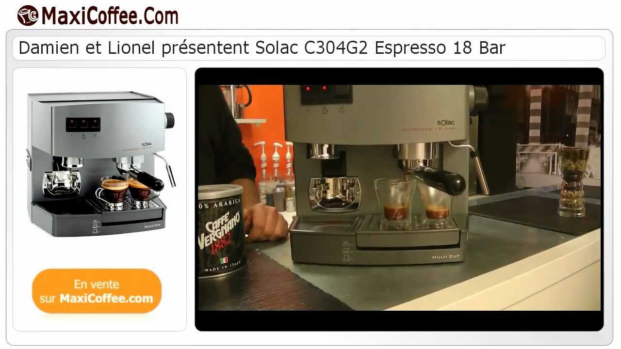 solac c304g2 espresso 18 bar machine expresso compacte. Black Bedroom Furniture Sets. Home Design Ideas