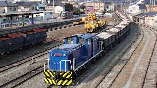 岩手開発鉄道 DD56形+ホキ100形 118レ 盛駅通過 2019年1月5日
