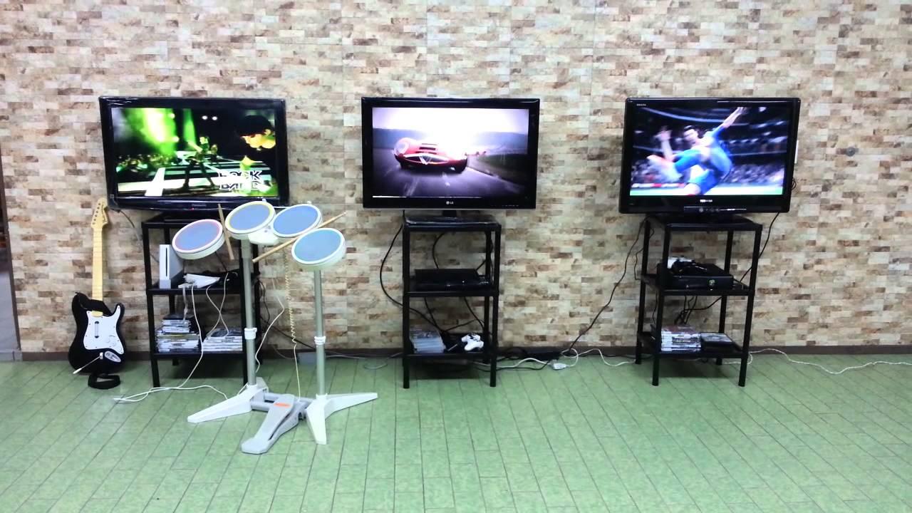 Alquiler de estacion de video juegos wii xbox 360 y for Mueble para xbox one