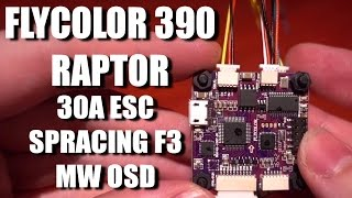 Flycolor Raptor 390 AIO ESC FC + OSD Review / Setup