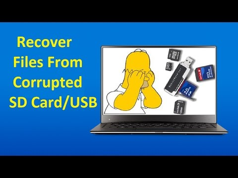 Recover Data from Corrupted SD Card or USB Drive!! - Howtosolveit