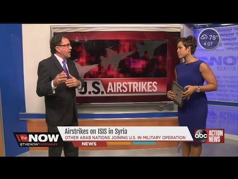 Prof. Derek Harvey gives us insight into the airstrikes in Syria #TheNowTampaBay