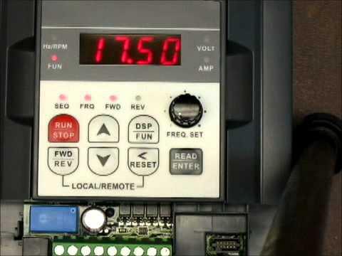 Programing the Teco VFD drive