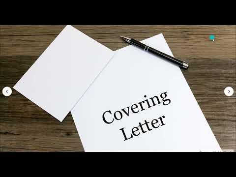 เทคนิคการเขียน Cover Letter