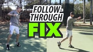Forehand follow-through FIX - tennis lesson (Part 1 of 3)