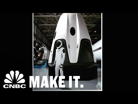 Elon Musk Reveals The Complete SpaceX Spacesuit For The First Time | CNBC Make It.