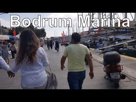 Bodrum Marina , ortam  kıpır kıpır