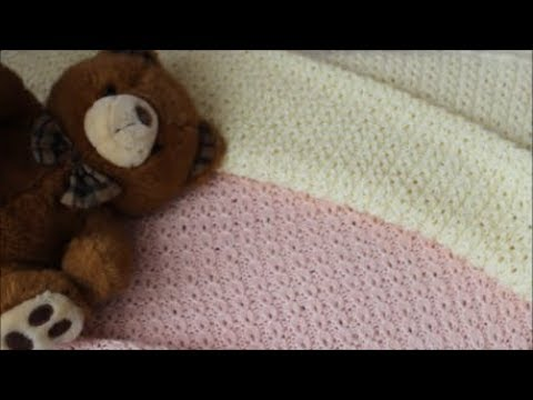 Летний плед для новорожденного спицами