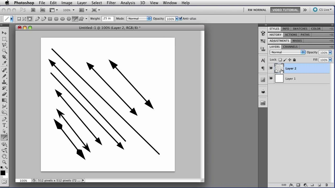 Draw lines to how in photoshop