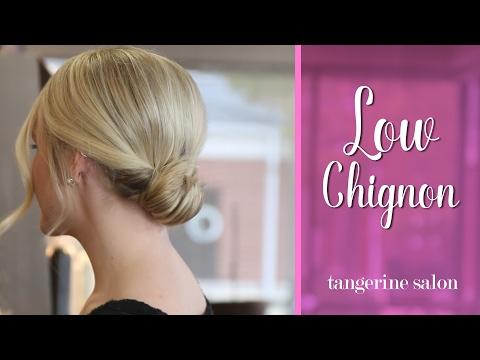 Hair Tutorial - Simple And Romantic Low Chignon