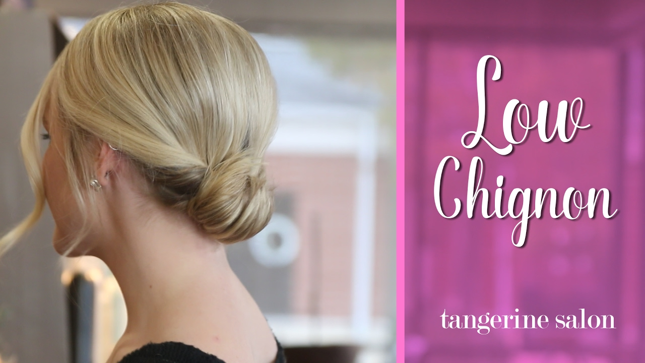 Hair Tutorial - Simple and Romantic Low Chignon - YouTube